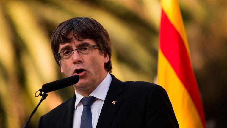 De Catalaanse premier Carles Puigdemont. Beeld afp