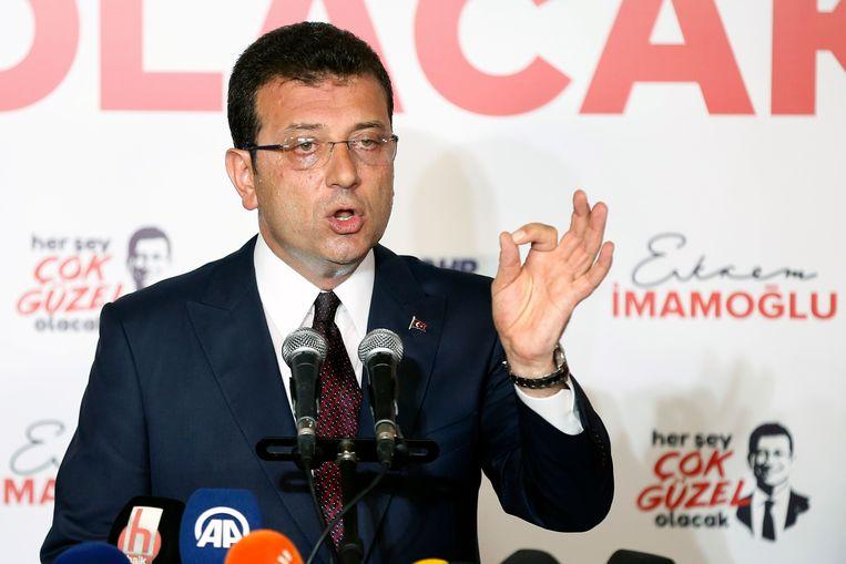 Oppositiekandidaat Ekrem Imamoglu.