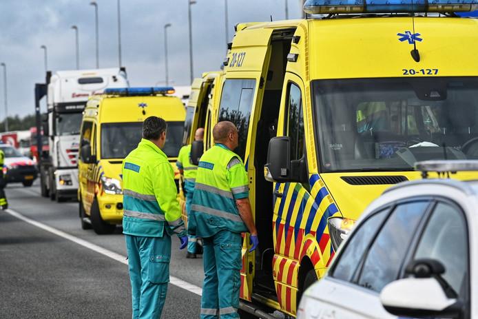 Ongeluk op A58 bij Breda.