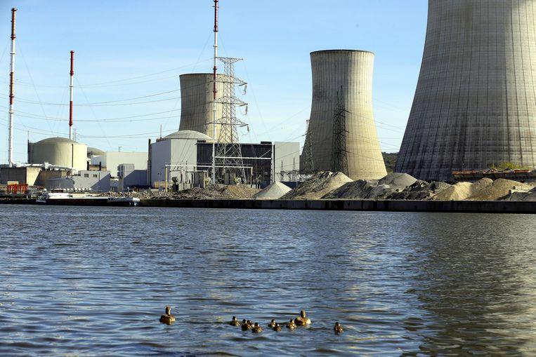 De kerncentrale van Tihange (Hoei).