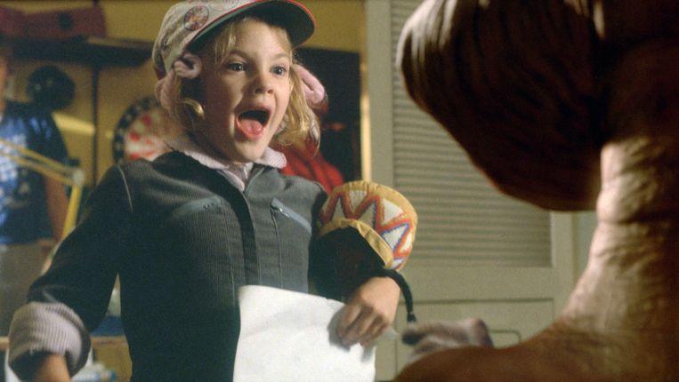 Drew Barrymore op de set van