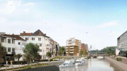 Studie bekijkt verdere verlaging van Leieboorden in Kortrijk tegen 2024
