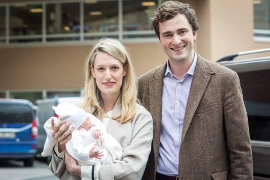 Le couple princier, à la naissance de leur fille, le 20 mai 2016.
