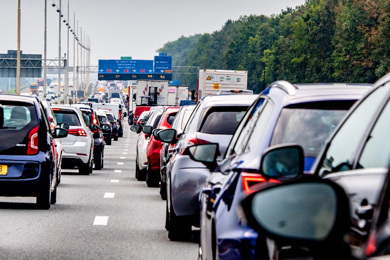 Woensdagochtend gaf een ander beeld; ditmaal géén file op de A12 rond Arnhem.