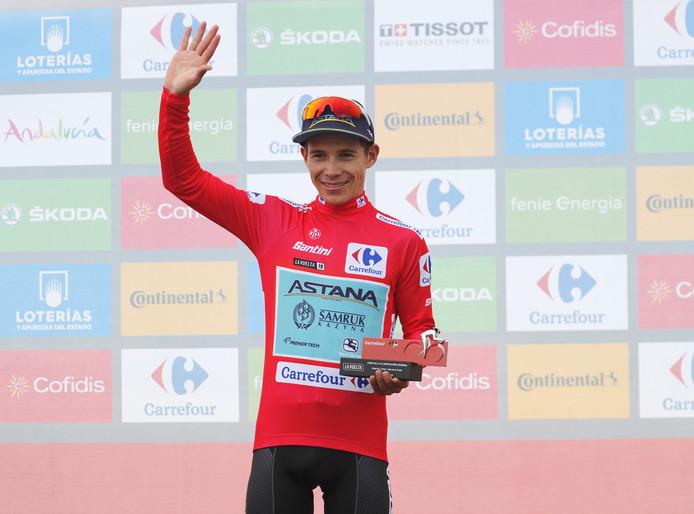 Miguel Angel López droeg tijdens de afgelopen Vuelta drie dagen lang de rode leiderstrui.