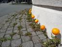 Oranje voetballen op het Stationsplein