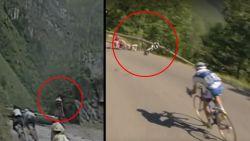 Toch maar opletten in de afdaling van de Cormet de Roselend, Johan Bruyneel en Arroyo doken er ooit het ravijn in
