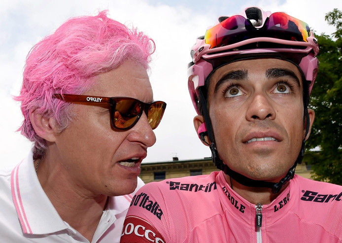 Oleg Tinkov met Alberto Contador