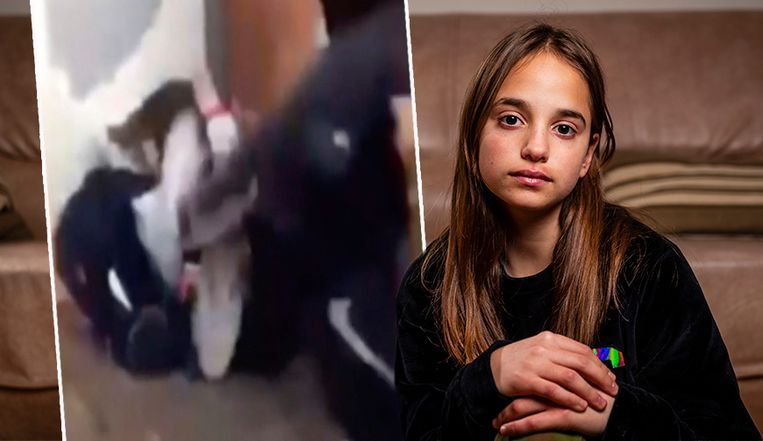 Lindsay (13) zit na de zware aanval begin november thuis.