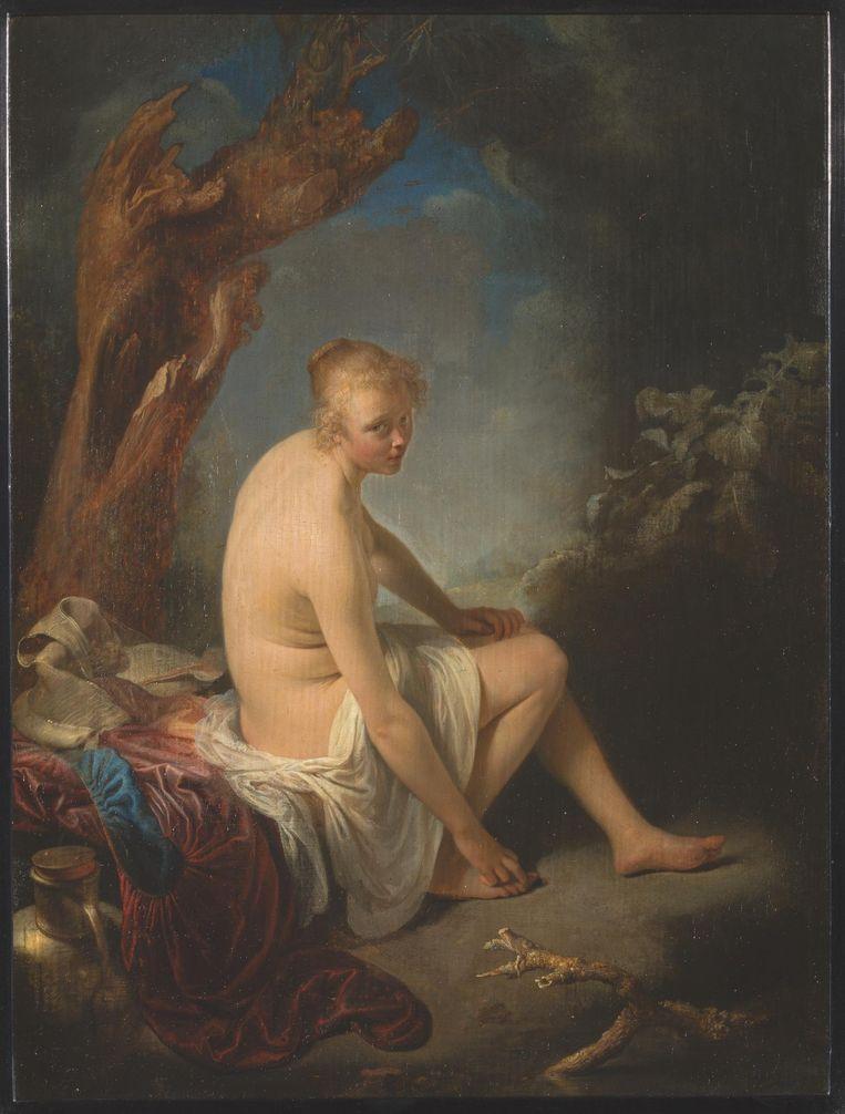 Gerard Dou, De Baadster, 1660-'65 Beeld Collectie Hermitage St. Petersburg