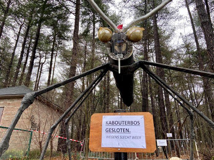 Het kabouterbos bleef zondag gesloten.