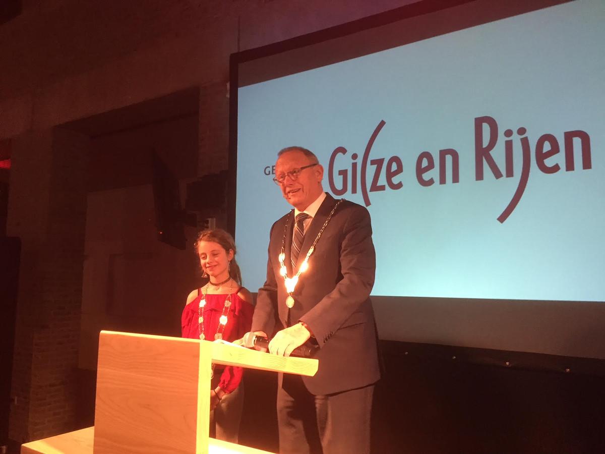 Burgemeester tijdens de nieuwjaarsreceptie in Gilze en Rijen.