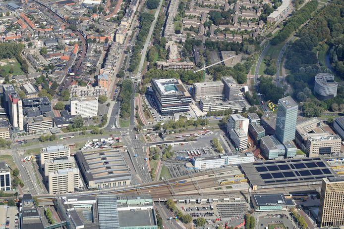 De prijzen van kantoorruimte in Eindhoven stijgt vooral rond het station en in de binnenstad.