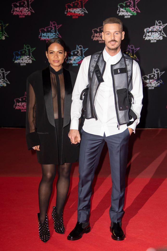 Matt Pokora et Christina Milian, enceinte de leur enfant.