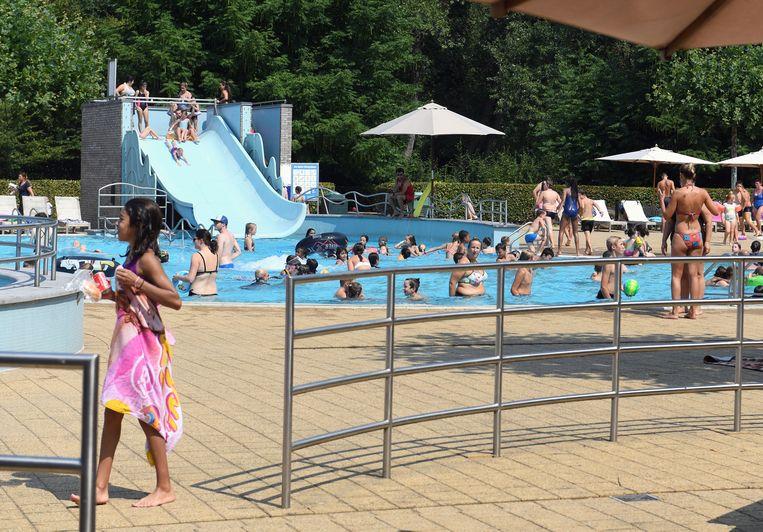 Het zwembad van het Provinciaal Domein in Kessel-Lo.