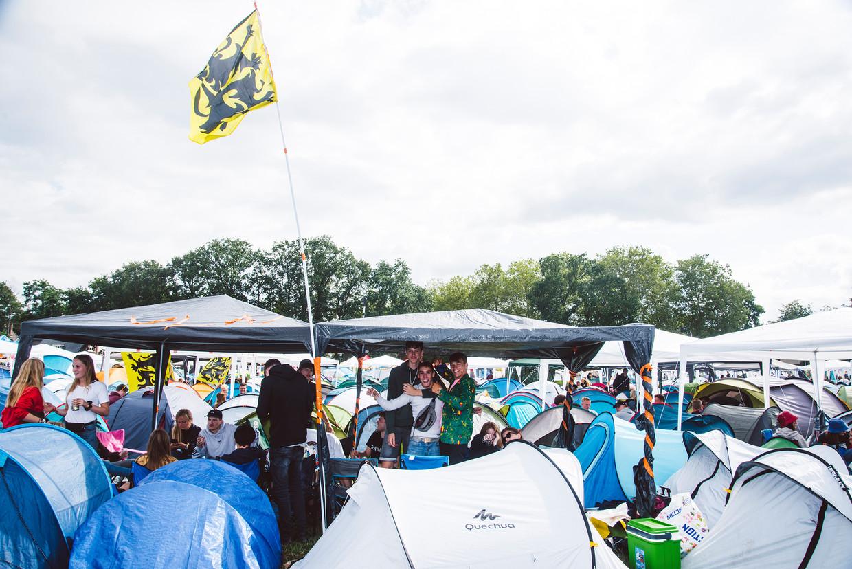 Pukkelpop-camping Beeld Francis Vanhee