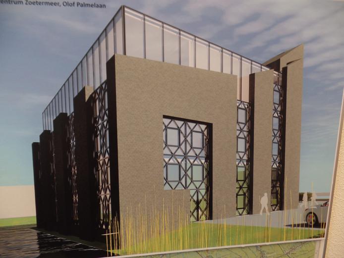 Zo gaat de nieuwe moskee aan de Olaf Palmelaan eruitzien.