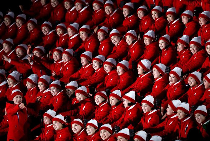 Cheerleaders uit Noord-Korea.