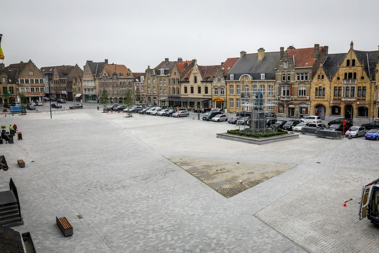 Archiefbeeld: de vernieuwde Grote Markt in Diksmuide
