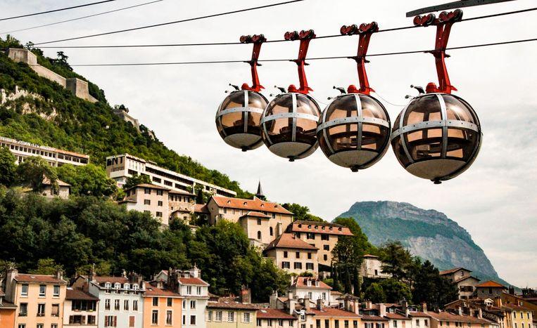 De kabelbaan in het Franse Grenoble.