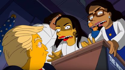 Makers 'The Simpsons' maken Trump belachelijk