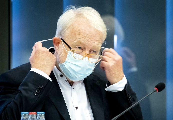Jaap van Dissel, directeur van het Centrum Infectieziektebestrijding van het RIVM, vandaag tijdens een bijeenkomst in de Tweede Kamer.