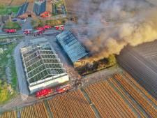 Aardappelloods aan Weebosch in Bergeijk volledig uitgebrand