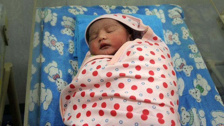 Een pasgeboren baby'tje Beeld afp