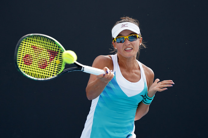 Arina Rodionova maakte het Kiki Bertens bij vlagen knap lastig.