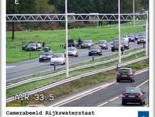 Ongeval op A1: file van vier kilometer ter hoogte van Eembrugge