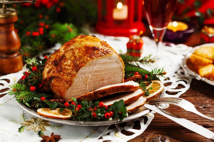 Traditioneel kerstgerecht: een stuk gebraad.