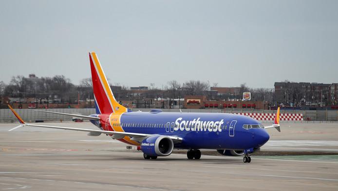 Archieffoto van het Boeing 737 MAX-toestel.