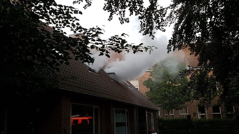 De brand in Ten Bercle in Pervijze.