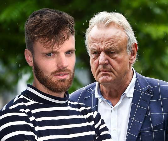 De Nijmeegse huisbaas Ton Hendriks (r) en televisiemaker Tim Hofman.