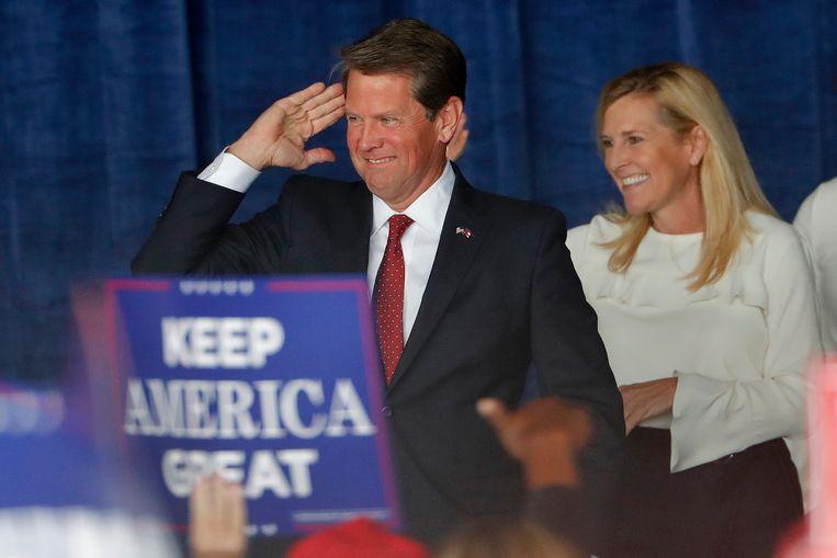 Brian Kemp is verantwoordelijk voor de verkiezingen in de staat Georgia, maar hoopt er tegelijkertijd gouverneur te kunnen worden.