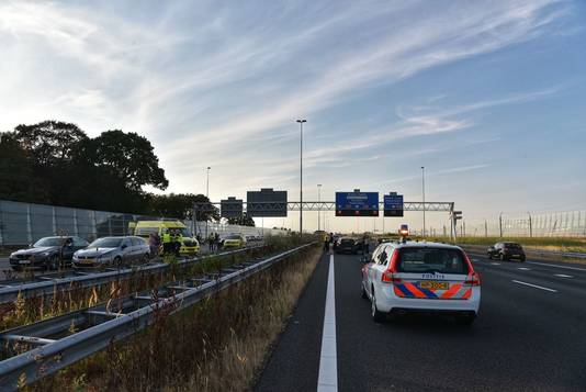 De A16 ter hoogte van Breda.