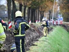 Gaslek tijdens graafwerkzaamheden in Westerhaar, gewonde fietser aan Hoofdweg