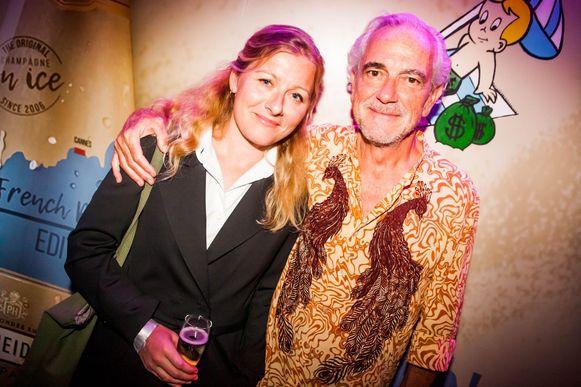 Gene Bervoets en zijn vrouw Tine Laureyns.