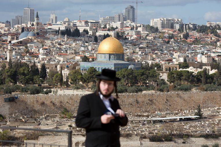 De Al-Aqsa-moskee in de oude stad van Jeruzalem. Beeld AP