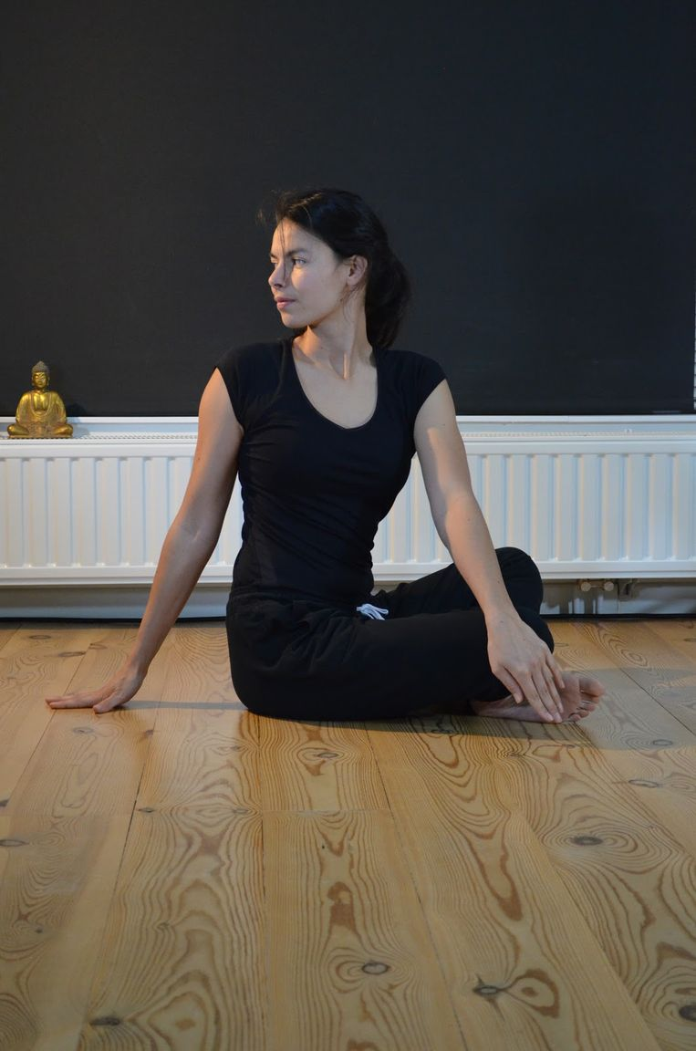 'Seated twist pose'