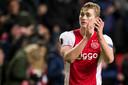 Matthijs na zijn Europese debuut voor Ajax tegen het Griekse Panathinaikos, vorige maand.