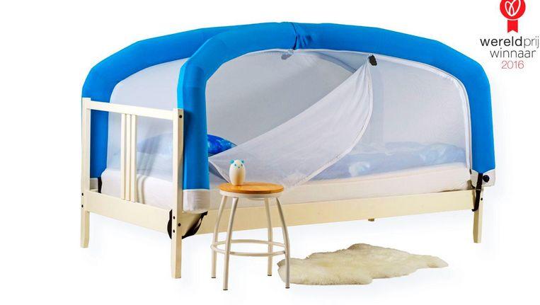 Een van de genomineerde start-ups is CloudCuddle, een draagbaar bed voor gehandicapte kinderen. Beeld CloudCuddle