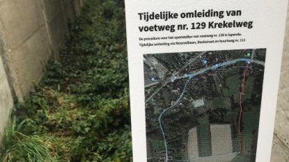 Schepen wil 'leefbaar compromis' over afgesloten buurtweg Krekeldries