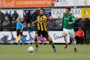 Wedstrijdbeeld uit de vorige derby in Ermelo.