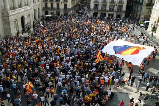 De protestacties in Barcelona.