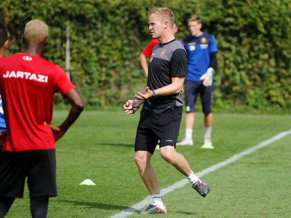 Vrancken leidde vanochtend al de training op de Mechelse jeugdvelden.