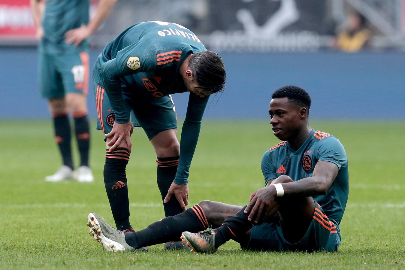 Quincy Promes viel zondag uit in de uitwedstrijd bij FC Twente.