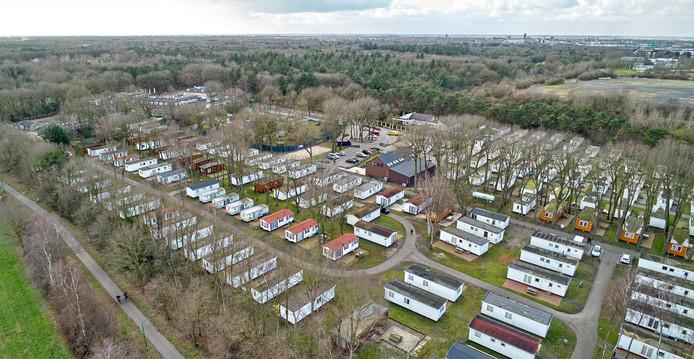 Het chaletpark bij Hotel De Naaldhof in Oss is allang geen vakantiepark meer.