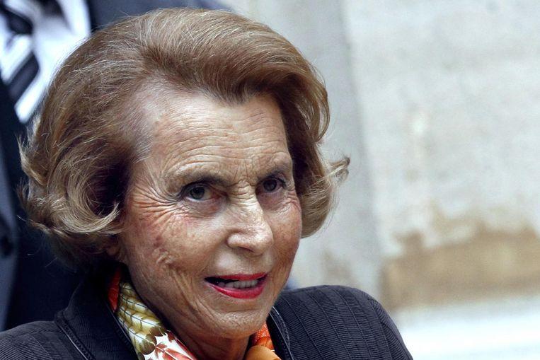 De Franse Liliane Bettencourt en rijkste vrouw ter wereld.