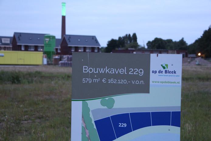 De Eibergse wijk Op de Bleek, waar projectontwikkelaar Ter Steege eigenlijk 222 zou bouwen.